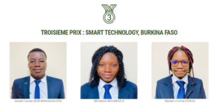 Smart Technology du Burkina Faso : 3ème prix