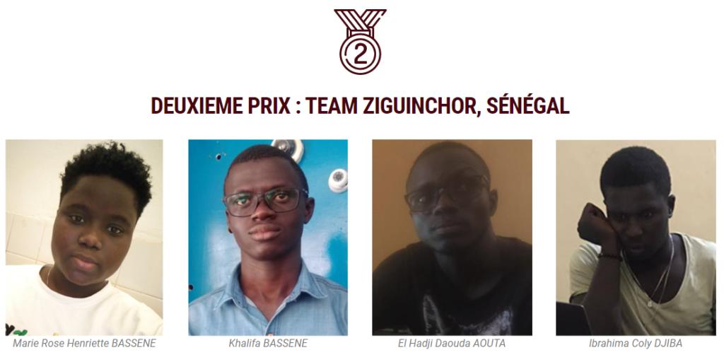 Team Ziguinchor, deuxième prix de l'agri-hackathon concours SOS SAHEL 2021
